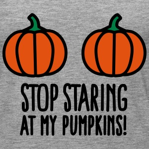 Stop staring at my pumpkins - Halloween boobs Tops - Frauen Premium Tank Top