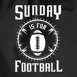Sunday is for Football - awesome sports fandom Bags & Backpacks - Drawstring Bag