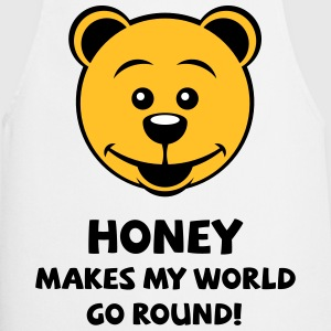 Honey Makes My World Go Round! (Honey Bear)  Aprons - Cooking Apron