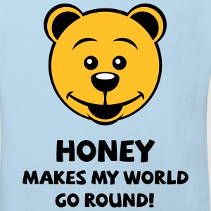 Honey Makes My World Go Round! (Honig Bär) T-Shirts - Kinder Bio-T-Shirt