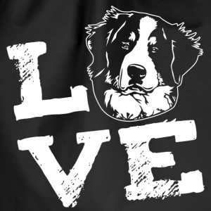 LOVE - Bernese mountain dog Bags & Backpacks - Drawstring Bag