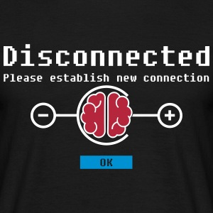 disconnected 02 T-shirts - Mannen T-shirt