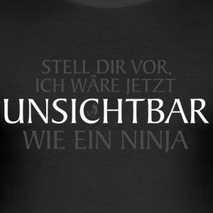 Unsichbar machendes Slim Fit-Shirt - Männer Slim Fit T-Shirt
