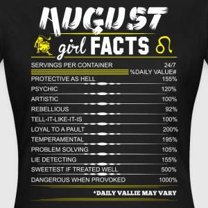 August Girl Facts Leo T-Shirts - Women's T-Shirt