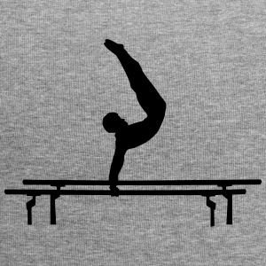 Men's Gymastics, Gymnast doing parallel bars Caps & Hats - Jersey Beanie