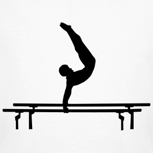 Men's Gymastics, Gymnast doing parallel bars T-shirts - Mannen Bio-T-shirt