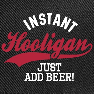 Instant hooligan just add beer Kasketter & huer - Kontrast snapback cap