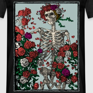 Skeleton and roses - Maglietta da uomo
