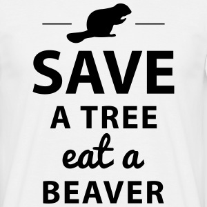 Save a tree eat a beaver - Männer T-Shirt