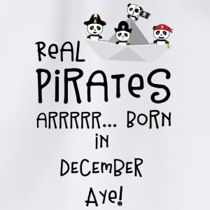 Real Pirates are born in DECEMBER Ssyxk Bags & Backpacks - Drawstring Bag