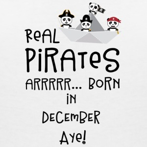 Real Pirates are born in DECEMBER Ssyxk T-Shirts - Women's Organic V-Neck T-Shirt by Stanley & Stella