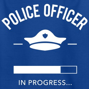 police officer progress - Kinder T-Shirt