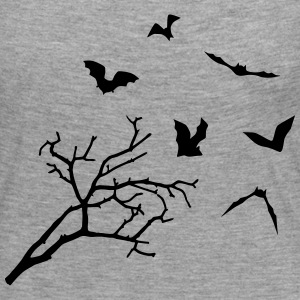 Bats & Tree, Bat Horror Long Sleeve Shirts - Women's Premium Longsleeve Shirt