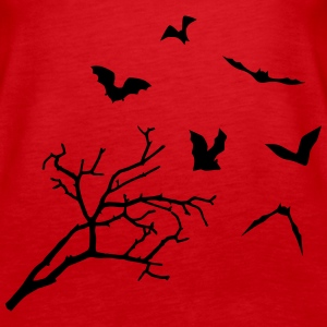 Bats & Tree, Bat Horror Tops - Vrouwen Premium tank top