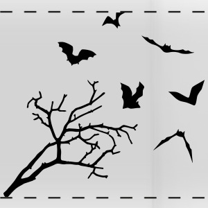 Bats & Tree, Bat Horror Mugs & Drinkware - Panoramic Mug