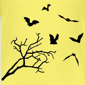 Bats & Tree, Bat Horror T-shirts - Premium-T-shirt barn