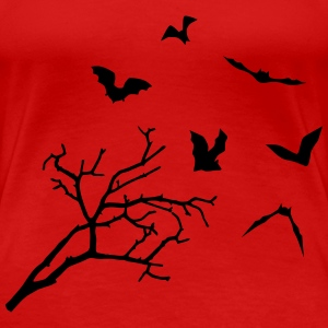 Bats & Tree, Bat Horror T-skjorter - Premium T-skjorte for kvinner