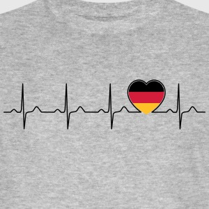 Germany flag heartbeat - nation - Germany T-Shirts - Men's Organic T-shirt
