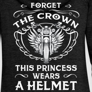 No crown - Princess wears a helmet Pullover & Hoodies - Frauen Premium Kapuzenjacke