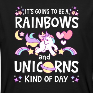 It's going to be Rainbows and Unicorns kind of day T-shirts - Organic mænd