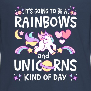 It's going to be Rainbows and Unicorns kind of day Manches longues - T-shirt manches longues Premium Ado