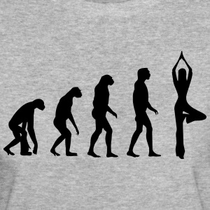 Yoga Evolution - Gymnastik - Sport -Fitness-Indien T-Shirts - Frauen Bio-T-Shirt