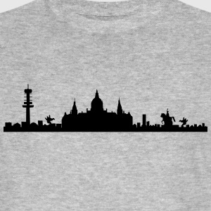 Hanovre skyline - silhouette - basse-Saxe Tee shirts - T-shirt bio Homme