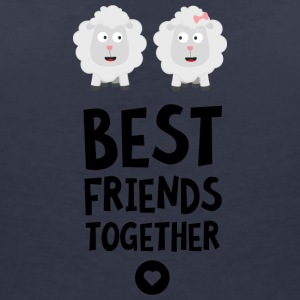 Sheeps Best friends Heart S8cvj T-Shirts - Women's Organic V-Neck T-Shirt by Stanley & Stella