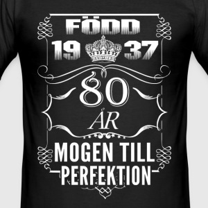 1937-80 years perfection - 2017 - SE T-Shirts - Men's Slim Fit T-Shirt