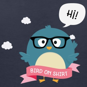 Nerd Bird on Shirt Sxb2i T-Shirts - Women's Organic V-Neck T-Shirt by Stanley & Stella