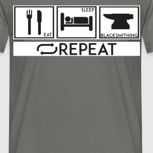 Blacksmithing - Eat, sleep, blacksmithing, repeat  - Men's T-Shirt