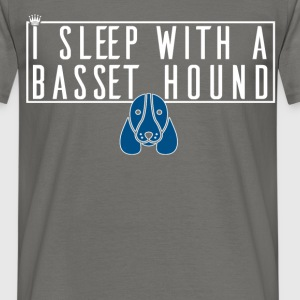 Basset Hound - I sleep with a Basset Hound - Men's T-Shirt