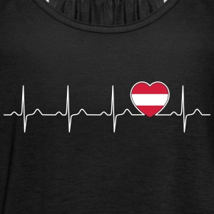 Austria flag heartbeat - nation - flag  Tops - Women's Tank Top by Bella