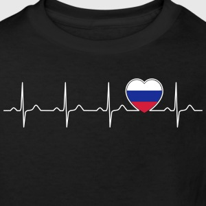 Ryssland flagg heartbeat - nation - flagga - hjärta T-shirts - Ekologisk T-shirt barn