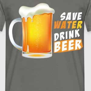 Beer - Save water, drink beer - Men's T-Shirt