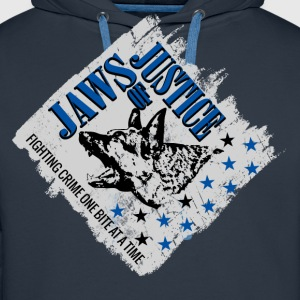 K-9 Unit  Jaws of Justice Hoodies & Sweatshirts - Men's Premium Hoodie