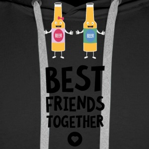 Beerbottles Best friends Heart S6sav Hoodies & Sweatshirts - Men's Premium Hoodie