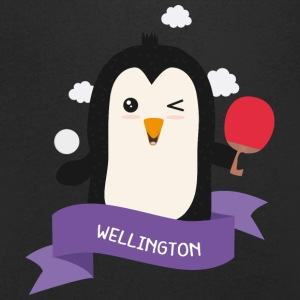 Penguin table tennis from WELLINGTON S7kv03 T-Shirts - Men's Organic V-Neck T-Shirt by Stanley & Stella