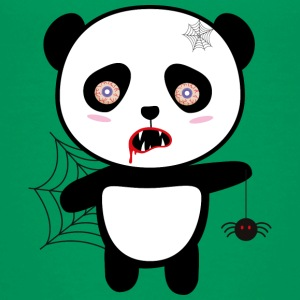Happy Halloween Horror Panda Saopu T-Shirts - Teenager Premium T-Shirt