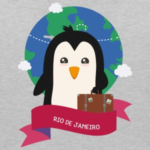 Penguin Globetrotter from RIO DE JANEIRO S6u3wq T-Shirts - Women's Organic V-Neck T-Shirt by Stanley & Stella