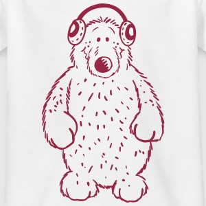 Musik Bär - Music - Bear - Comic - Fun T-Shirts - Kinder T-Shirt