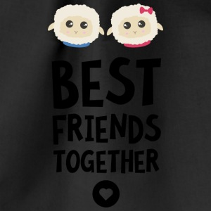 Sheeps Best friends Heart S2fy6 Bags & Backpacks - Drawstring Bag