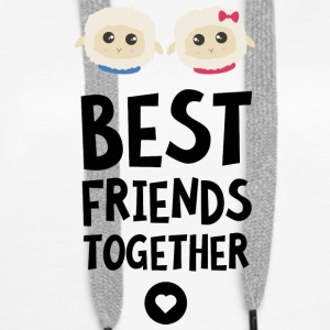 Sheeps Best friends Heart S2fy6 Hoodies & Sweatshirts - Women's Premium Hoodie