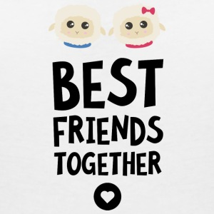 Sheeps Best friends Heart S2fy6 T-Shirts - Women's Organic V-Neck T-Shirt by Stanley & Stella
