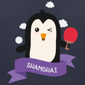 Penguin table tennis from SHANGHAI Sg8cjt T-Shirts - Women's Organic V-Neck T-Shirt by Stanley & Stella