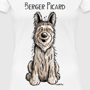 Lustiger Berger Picard -.Hund - Dog - Comic T-Shirts - Frauen Premium T-Shirt