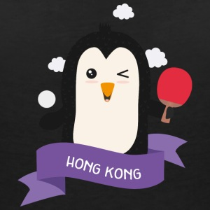 Penguin table tennis from HONG KONG S8lgc0 T-Shirts - Women's Organic V-Neck T-Shirt by Stanley & Stella