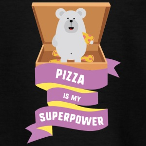 Pizza er min supermagt S1a6g T-shirts - Teenager-T-shirt