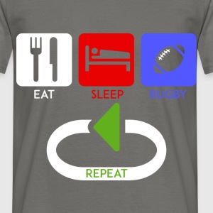 Rugby  - Eat, Sleep, rugby, repeat - Men's T-Shirt