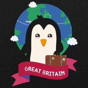 Penguin Globetrotter from Great Britain Sza2p0 Bags & Backpacks - EarthPositive Tote Bag